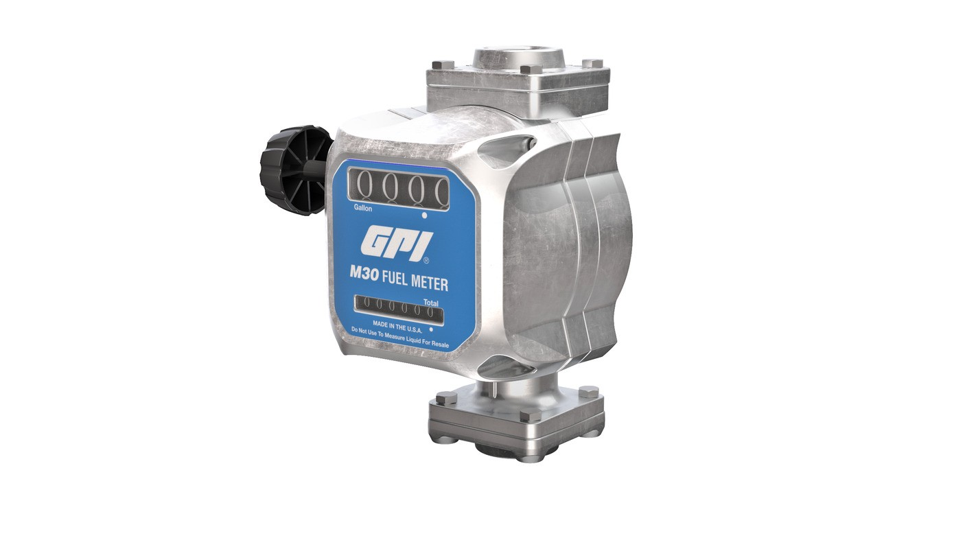 GPI-M30 mechanical fuel meter for 12 volt & 24 volt pumps