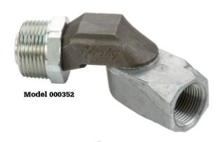 """¾"""" gas/diesel hose swivel"""